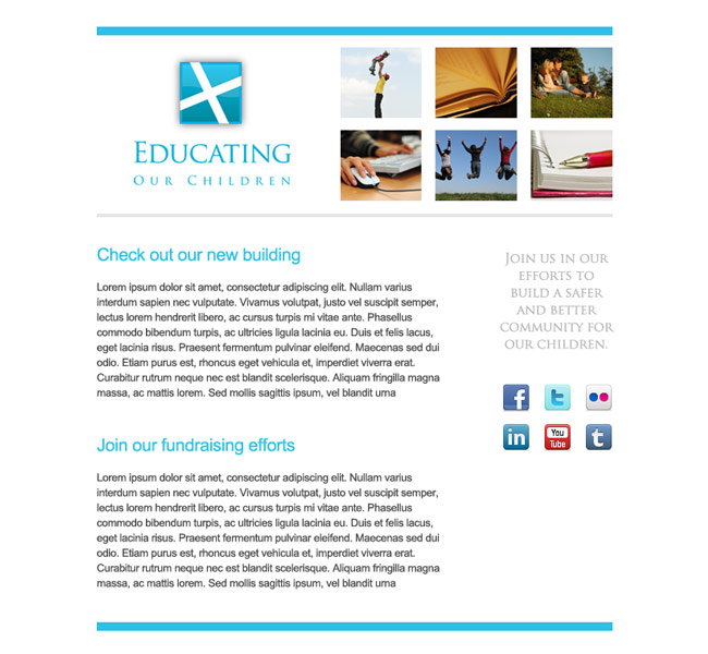 Educating Our Children Email Template - Snoack Studios