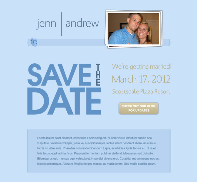 Save the date email